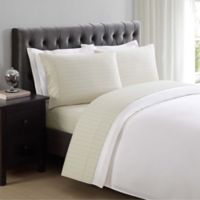 Charisma Classic Stripe 310-Thread-Count Twin Sheet Set in Almond