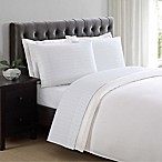 Charisma Classic Stripe 310-Thread-Count King Sheet Set in Bright White