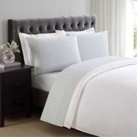 Charisma Classic Stripe 310-Thread-Count Full Sheet Set in Dawn Blue