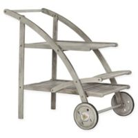 Safavieh Lodi Outdoor Tea Cart in Grey Wash/Beige