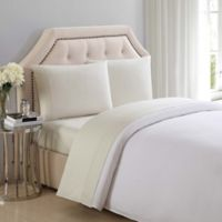 Charisma® 310-Thread-Count Solid Twin Sheet Set in Almond