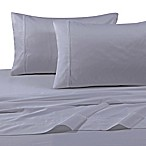 Tribeca Living Solid Color 360-Thread Count Cotton Sateen Deep-Pocket King Sheet Set in Silver Grey