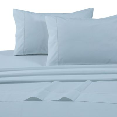 tribeca living solid extra deep pocket king sheet set in sky