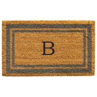 "Home & More Monogram Letter ""B"" 24-Inch x 36-Inch Border Door Mat in Periwinkle"