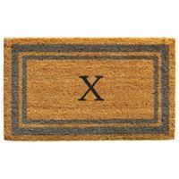 "Home & More Monogram Letter ""X"" 24-Inch x 36-Inch Border Door Mat in Periwinkle"