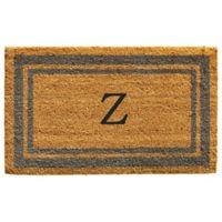 "Home & More Monogram Letter ""Z"" 24-Inch x 36-Inch Border Door Mat in Periwinkle"