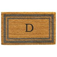 "Home & More Monogram Letter ""D"" 24-Inch x 36-Inch Border Door Mat in Periwinkle"