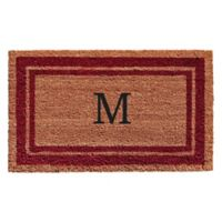 "Home & More Monogram Letter ""M"" 24-Inch x 36-Inch Border Door Mat in Burgundy"