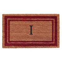 "Home & More Monogram Letter ""I"" 24-Inch x 36-Inch Border Door Mat in Burgundy"