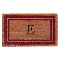"Home & More Monogram Letter ""E"" 24-Inch x 36-Inch Border Door Mat in Burgundy"