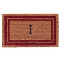 "Home & More Monogram Letter ""I"" 18-Inch x 30-Inch Border Door Mat in Burgundy"
