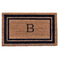 "Home & More Monogram Letter ""B"" 18-Inch x 30-Inch Border Door Mat in Dark Blue"