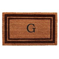 "Home & More Monogram Letter ""G"" 18-Inch x 30-Inch Border Door Mat in Brown"