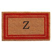 "Home & More Monogram Letter ""Z"" 18-Inch x 30-Inch Border Door Mat in Red"