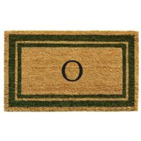 "Home & More Monogram Letter ""O"" 24-Inch x 36-Inch Border Door Mat in Sage"