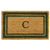 "Home & More Monogram Letter ""C"" 18-Inch x 30-Inch Border Door Mat in Sage"