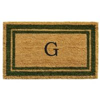 "Home & More Monogram Letter ""G"" 18-Inch x 30-Inch Border Door Mat in Sage"