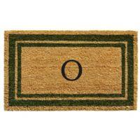 "Home & More Monogram Letter ""O"" 18-Inch x 30-Inch Border Door Mat in Sage"