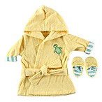Luvable Friends® Baby Bathrobe and Slipper Set in Yellow