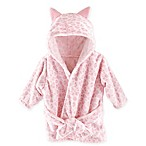 Hudson Baby Leopard Bathrobe in Pink