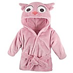 Hudson Baby® Owl Bathrobe in Pink