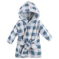 Hudson Baby® Plaid Bathrobe in Blue