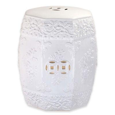 safavieh zen ren garden stool in white
