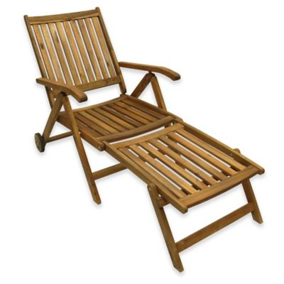 Acacia Wood Lounge Chair In Brown