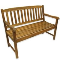 Acacia Outdoor Wood Bench in Brown