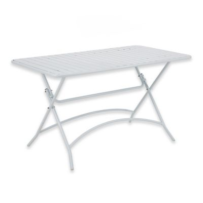 INK+IVY Tinley Outdoor Dining Table In White