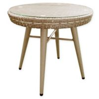 INK+IVY Avery Outdoor End Table in Dark Grey