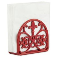 Home Basics® Fleur de Lis Napkin Holder in Red