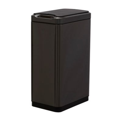 EKO Stainless Steel 13 Gallon Sensor Trash Can In Black