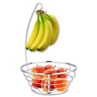 Home Basics® Fruit Bowl with Banana Tree in Chrome