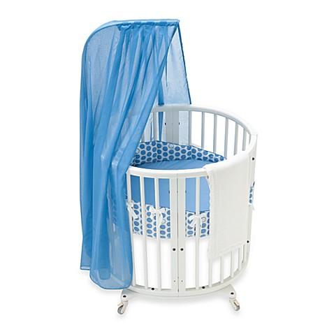 stokke sleepi mini blue dots crib bedding set and. Black Bedroom Furniture Sets. Home Design Ideas