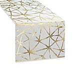 Colordrift Logan Mosaic 90-Inch Table Runner in Gold