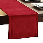 Winter Wonderland Velvet 72-Inch Table Runner in Red