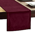 Velvet 90-Inch Table Runner in Wine
