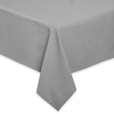 Relaxed Cotton 60 Inch X 120 Inch Oblong Tablecloth In Grey