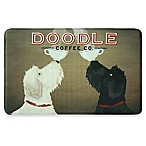 Bacova 22-Inch x 35-Inch Doodle Coffee Memory Foam Kitchen Mat in Brown