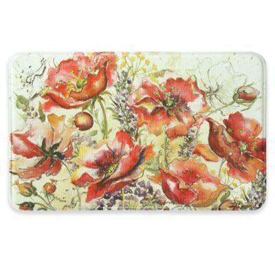Buy poppy rug mat from bed bath beyond bacova 22 inch x 35 inch poppy field memory foam kitchen mat in red mightylinksfo