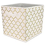 Home Basics® Arbor Patterned Storage Bin in Metallic Gold