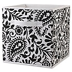 Home Basics® Paisley Patterned Storage Bin in Black/White