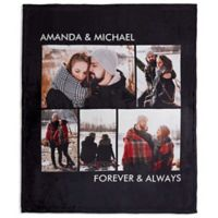 Picture Perfect 50-Inch x 60-Inch Fleece 5-Photo Blanket