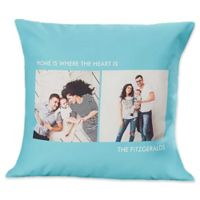 2-Photo Picture Perfect 18-Inch Square Throw Pillow