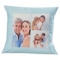 3-Photo Picture Perfect 14-Inch Square Throw Pillow
