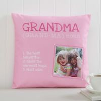 Definition of Grandma 14-Inch Square Photo Pillow
