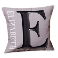 Monogram 18-Inch Square Throw Pillow