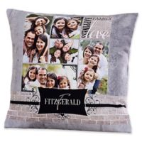 Family Memories 18-Inch Square Throw Pillow
