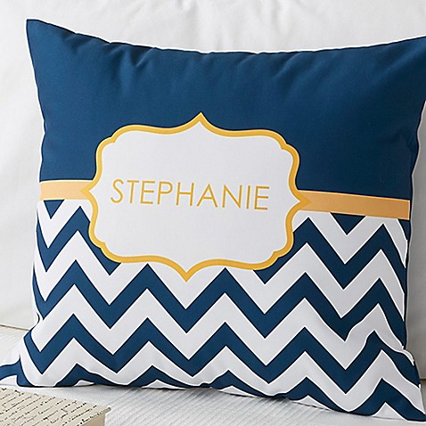 image of Preppy Chic 18-Inch Square Throw Pillow